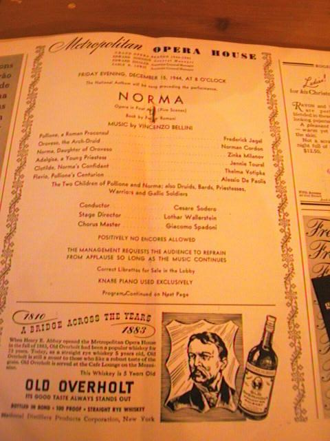 BELLINI - NORMA - SODERO - DEC 15 1944 - No 10