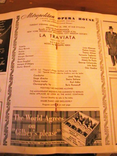 VERDI - LA TRAVIATA - PERLEA - JAN 24 1950 - No 18