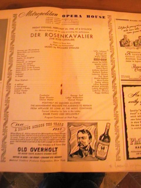 STRAUSS - ROSENKAVALIER - SZELL - FEB 23 1945 - No 4