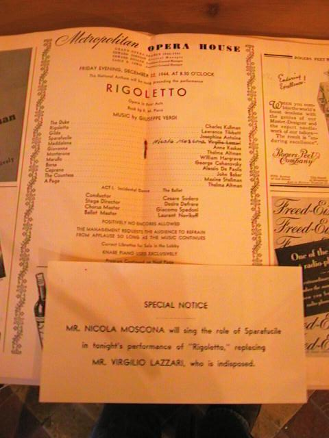 VERDI - RIGOLETTO - SODERO - DEC 22 1944 - No 6