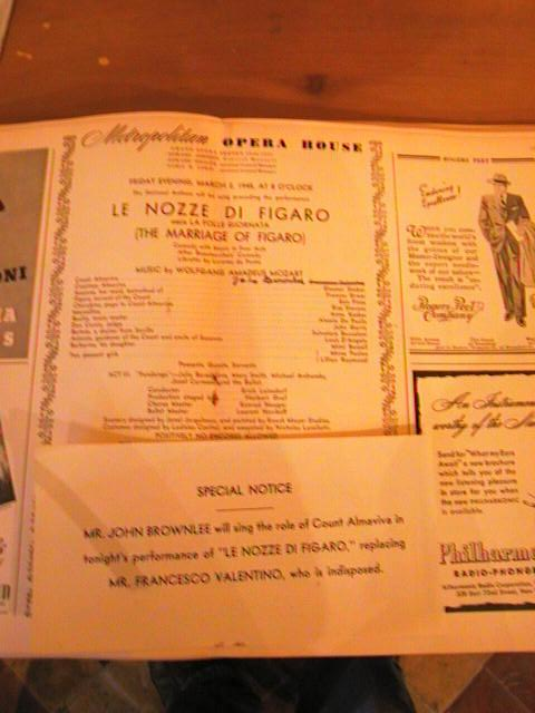 MOZART - MARRIAGE FIGARO - LEINSDORF - MAR 2 1945 - No 9