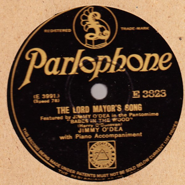 Jimmy O'Dea - The Lady Shacauna - Parlophone E.3823