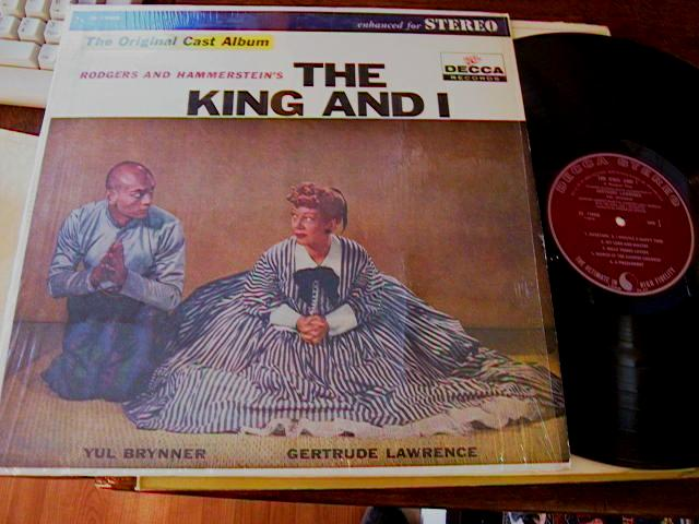 THE KING & I - BRYNNER , LAWRENCE - DECCA
