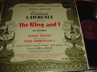 THE KING AND I - BRYNNER & LAWRENCE - DECCA { 306