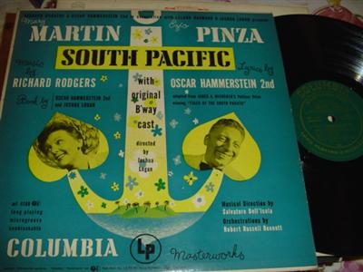SOUTH PACIFIC - MARTIN & PINZA - COLUMBIA 1949 { 240
