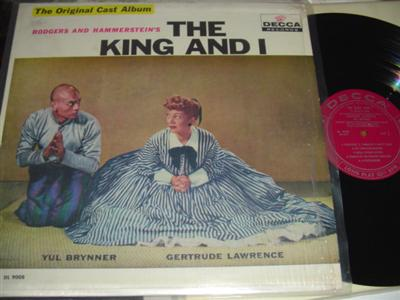 THE KING AND I - BRYNNER & LAWRENCE - DECCA { 308