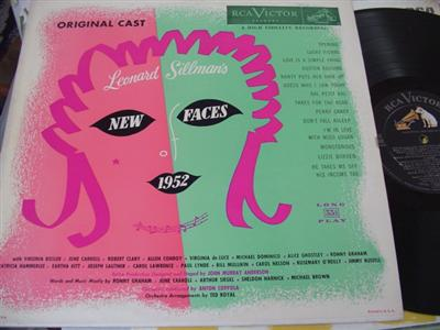 NEW FACES OF 1952 - BOSLER - RCA { 29