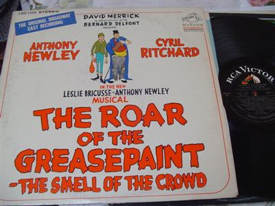 THE ROAR OF GREASEPAINT - NEWLEY - RCA { 22