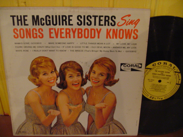 McGUIRE SISTERS - SONGS EVERYBODY KNOWS - CORAL - PM 118