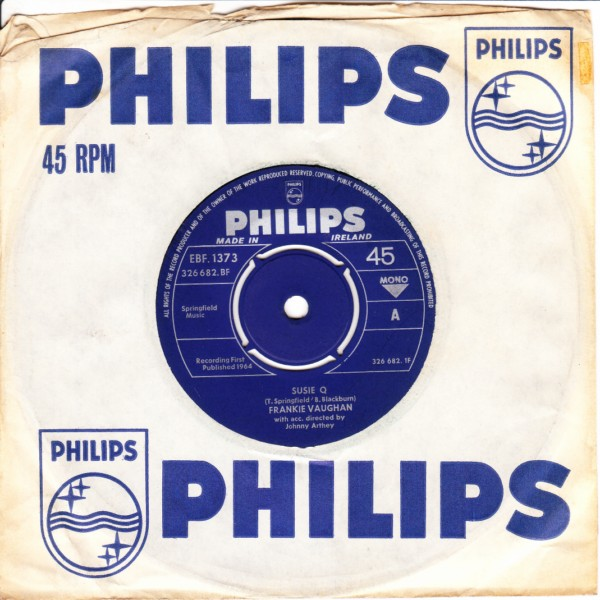 Frankie Vaughan - Susie Q - Philips Irish 3327