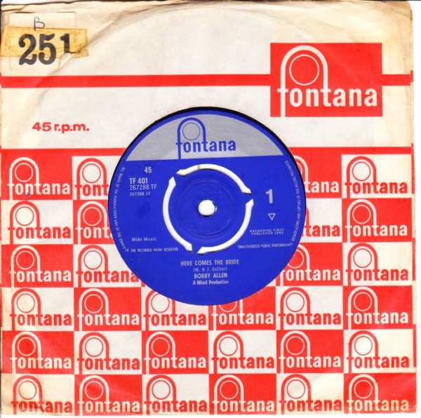 Bobby Allen - Here comes the Bride - Fontana UK 3328