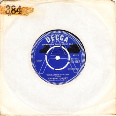Anthony Newley - The Father of the Girls - Decca Demo 3381