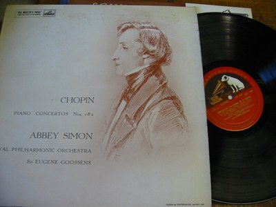 Abbey Simon - Chopin Piano Concertos - HMV ALP 1580
