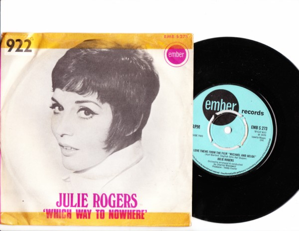 Julie Rogers - Which way to no - Ember Picture Sleeve 4145