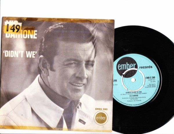 Vic Damone - Didn't We - Ember Picture Sleeve 4147