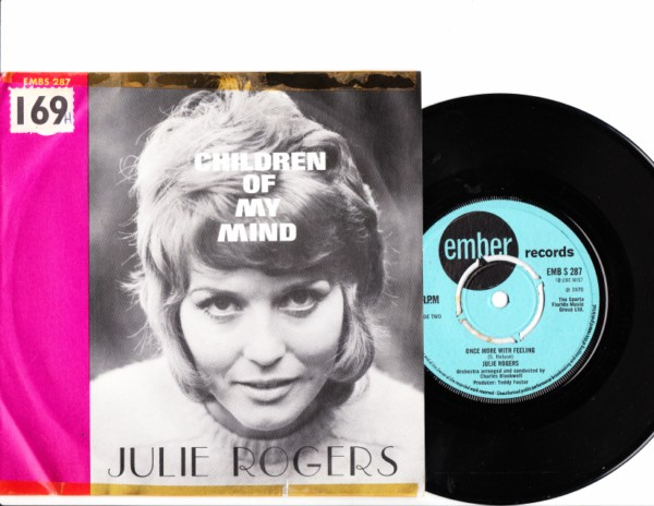 Julie Rogers - Children of my mind - Ember Picture Sleeve 4148