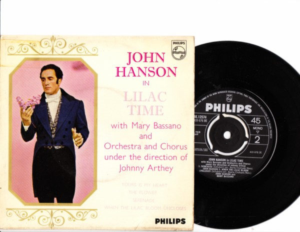 John Hanson - In Lilac Time - Philips UK EP 4159