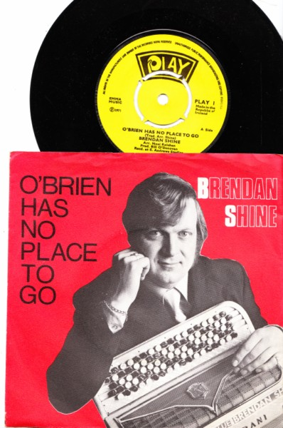 PLAY 001 - Brendan Shine 1971 Picture sleeve