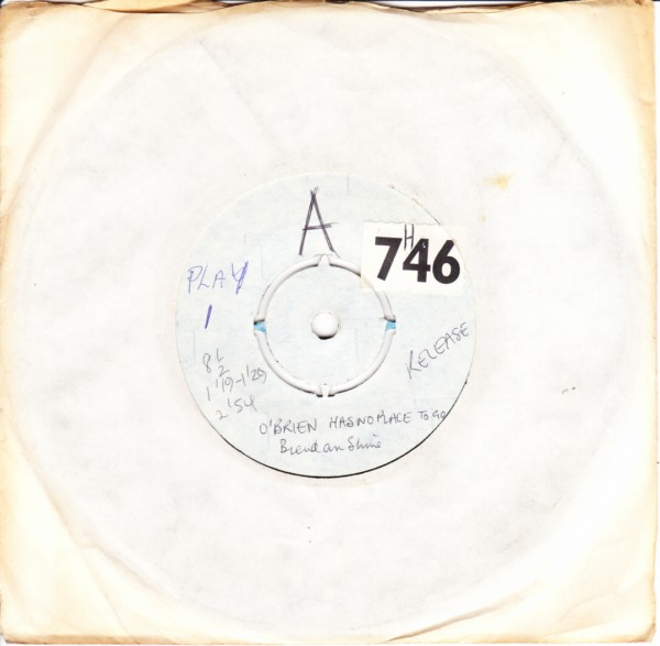 PLAY 001 - Brendan Shine - Test Pressing 1971