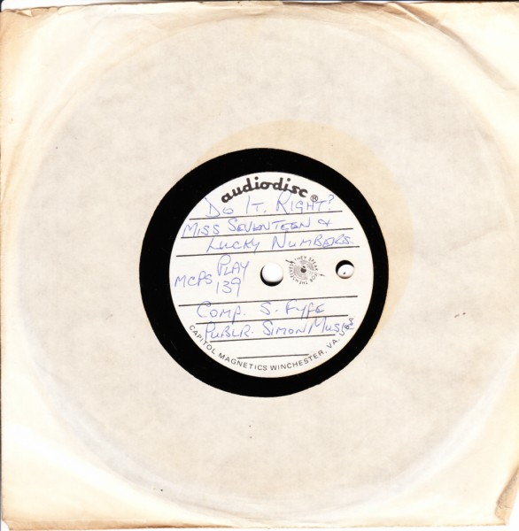 PLAY 139 - Miss Seventeen & Lucky Numbers - RARE ACETATE