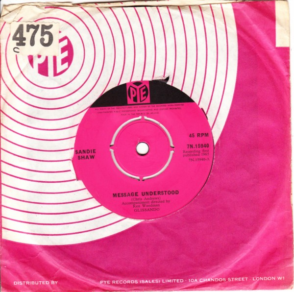 Sandie Shaw - Message Understood - Pye Irish 3291