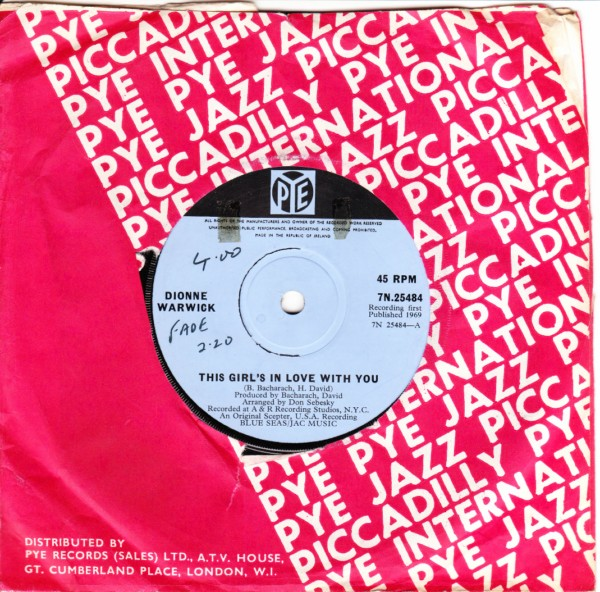 Dionne Warwick - This girl's in love with you - Pye Irish 3297