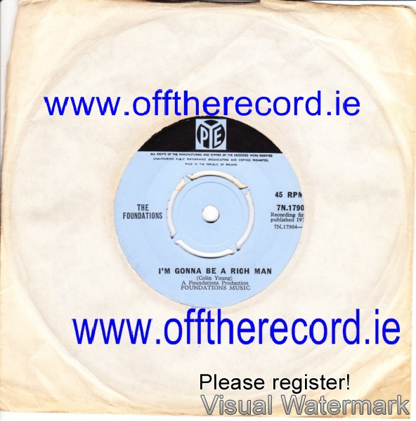The Foundations - Take a girl like you - Pye Irish 3916