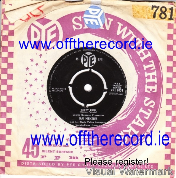 Ian Menzies Clyde Valley Stompers - The Fish Man - Pye 3947