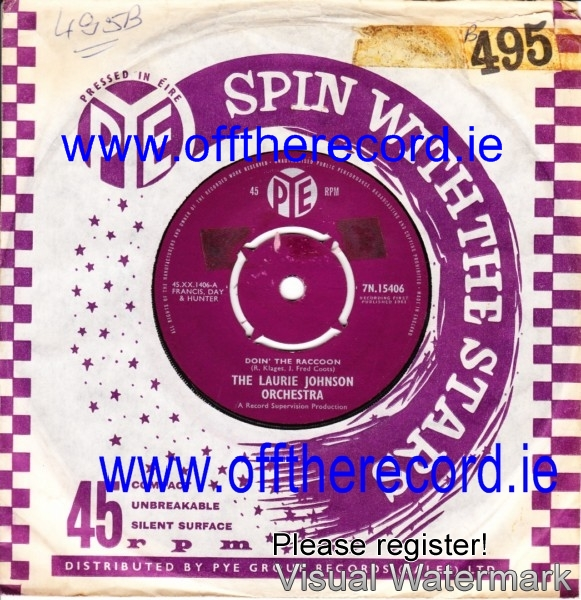 Laurie Johnson Orchestra - Doin' the Racoon - Pye 3950