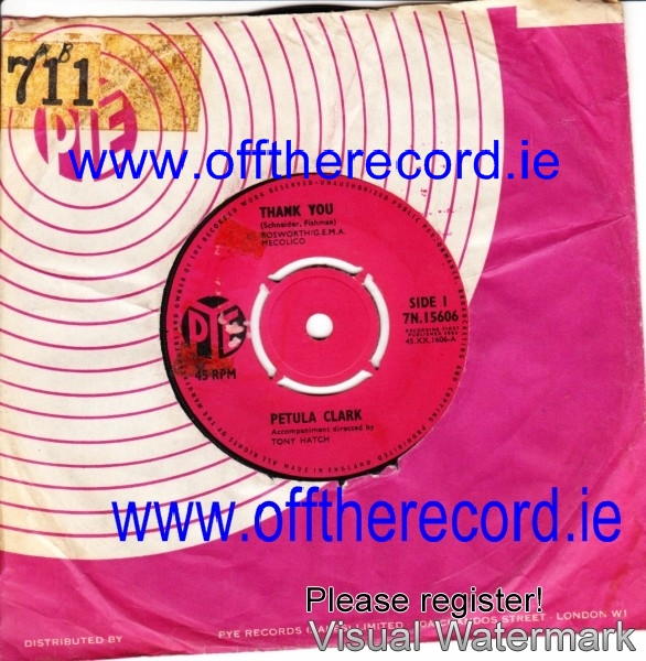 Petula Clark - Thank You - Pye UK 3983