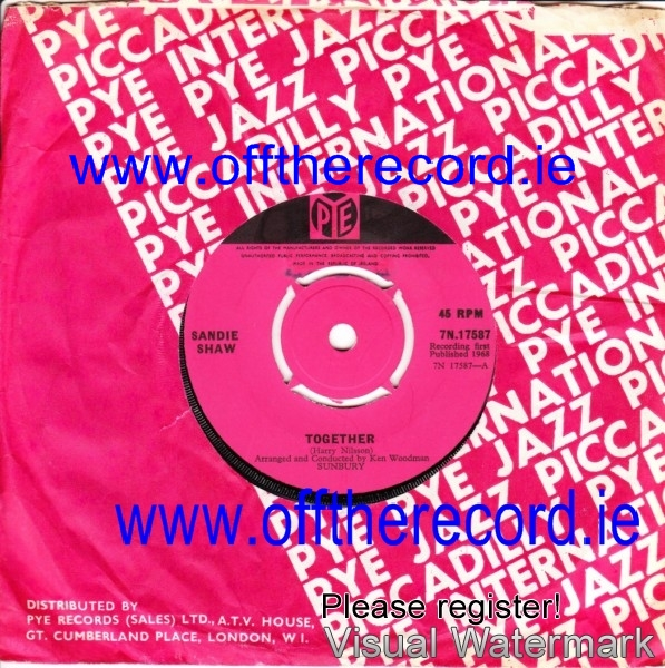 Sandie Shaw - Together - Pye Irish 3989