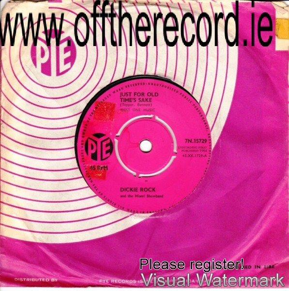 Dickie Rock & The Miami - PYE UK RECORDS - 7N15729 - 1964