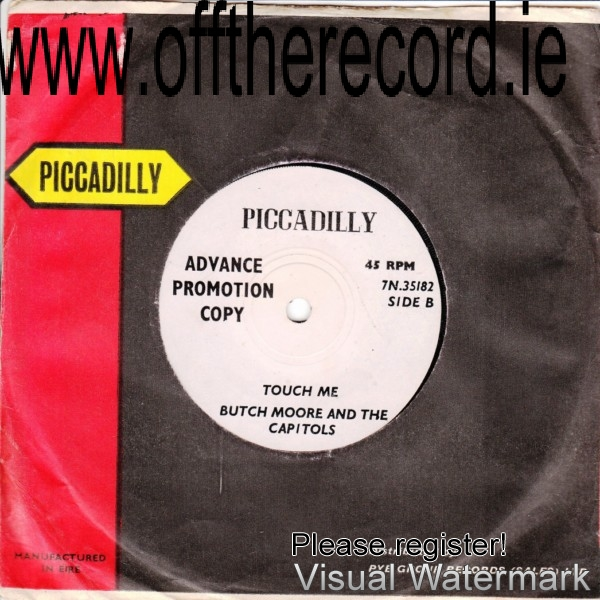 Butch Moore & The Capitols - Piccadilly 7N35182 - 1960s