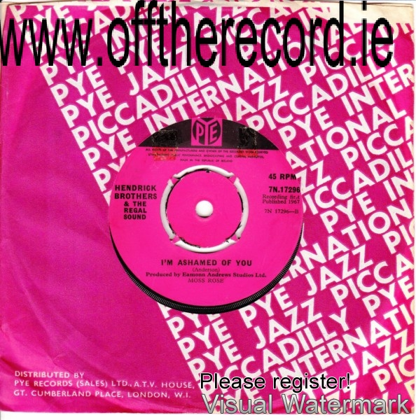 The Regal Sound & Kevin Lynch & The Hendricks - Pye 7N17296