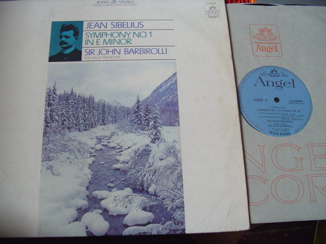 SIBELIUS - SYMPHONY No 1 - BARBIROLLI - ANGEL 1856