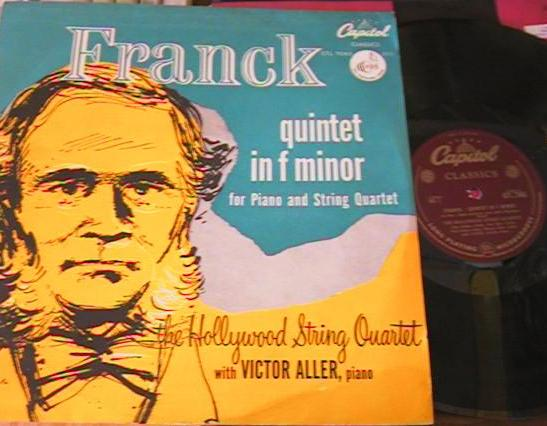 FRANCK - QUINTET - HOLLYWOOD STRING - ALLER - CAPITOL { R 148