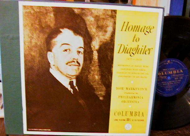 DIAGHILEV - HOMAGE - MARKEVITCH - COLUMBIA 33CX - R 140