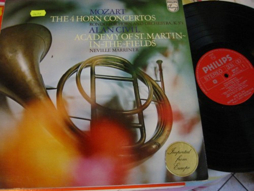 ALAN CIVIL horn - MOZART CONCERTOS - MARRINER - PHILIPS