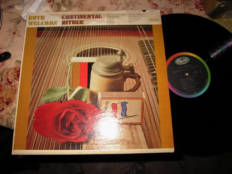 RUTH WELCOME - CONTINENTAL ZITHER - CAPITOL MONO