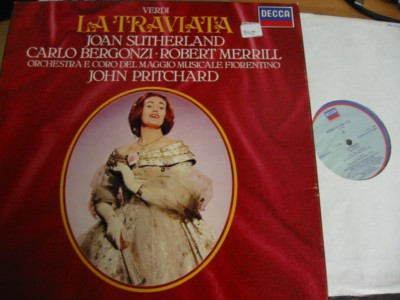VERDI - LA TRAVIATA - SUTHERLAND - PRICHARD - DECCA 2LP