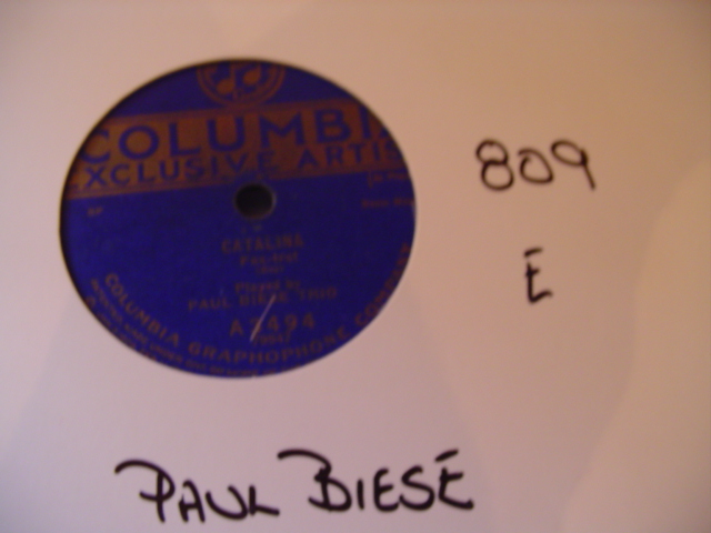 PAUL BIESE - COLUMBIA A 3494 - 809