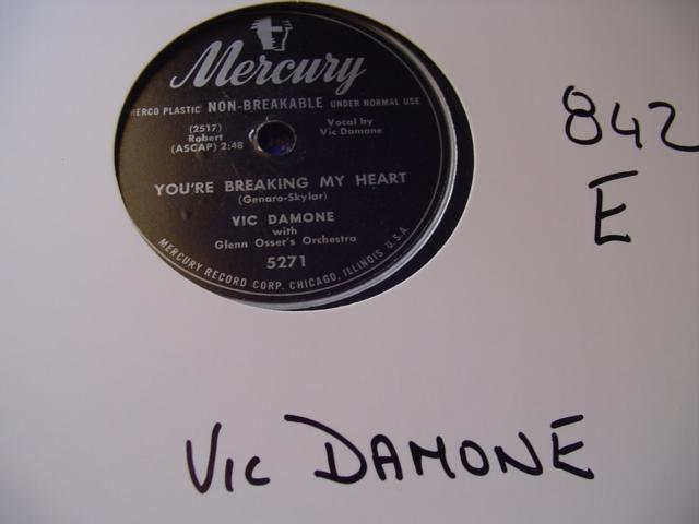 VIC DAMONE - MERCURY 5271 - 842