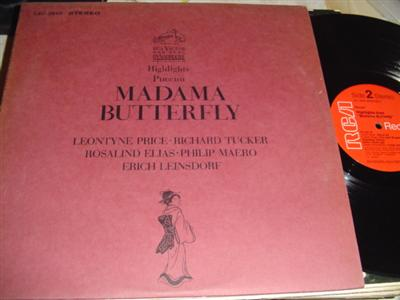 PUCCINI - MADAME BUTTERFLY high PRICE LEINSDORF { RCA 287
