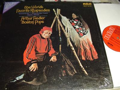 ARTHUR FIEDLER - BOSTON POPS - WORLDS RHAPSODIES { RCA 295