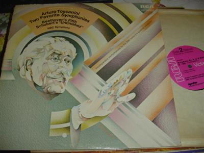 BEETHOVEN FIFTH / SCHUBERT UNFINISHED - TOSCANINI { RCA 264