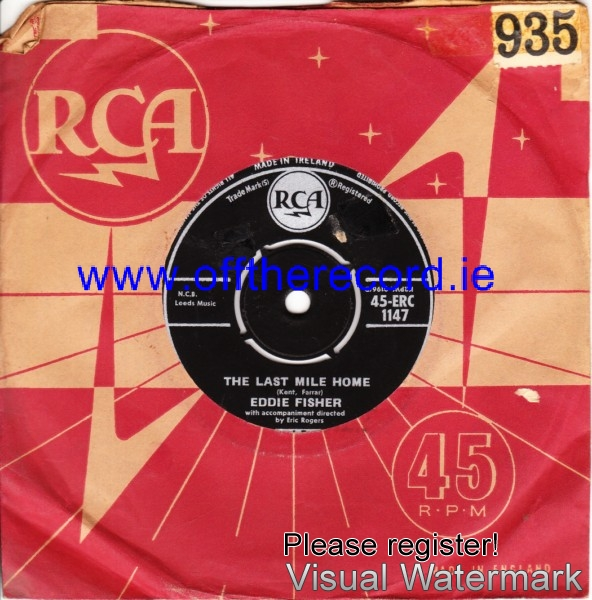 Eddie Fisher - The last mile home - RCA IRISH 4225