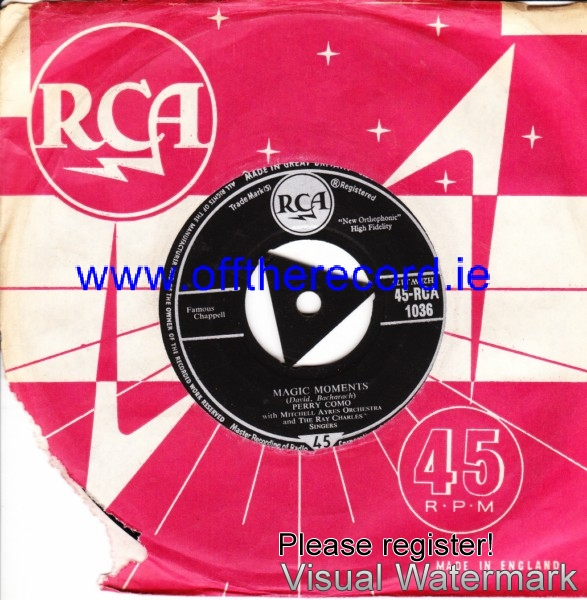 Perry Como - Magic Moments - RCA UK 4215