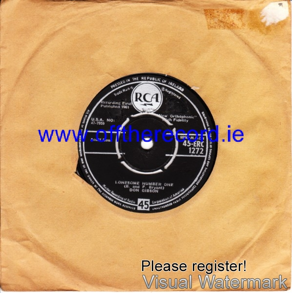 Don Gibson - Lonesome number one - RCA Irish 4202