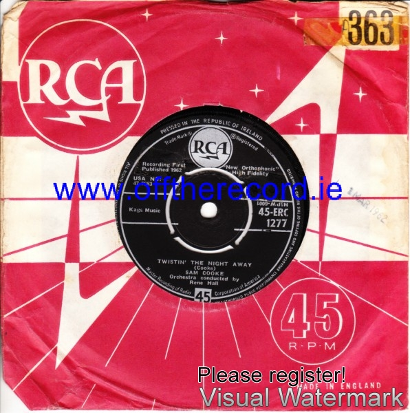 Sam Cooke - Twistin' the night away - RCA Irish 4197