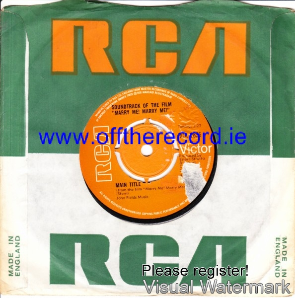 Johnnie Spence - Marry Me Marry Me - RCA 4186